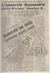 Eco della Stampa d'annata 1962.