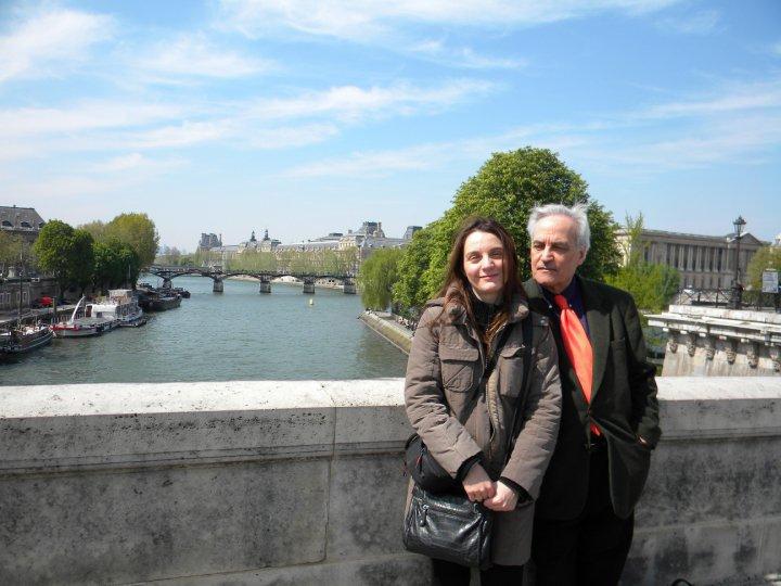 2010 - A Parigi con la figlia Rebecca.